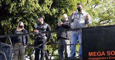 SintraspCotia apoia protesto dos Servidores de Itaquá contra a retirada do Nível Universitário